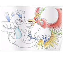 Lugia and Ho-Oh Poster
