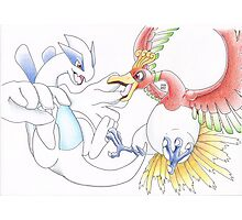 Lugia and Ho-Oh Photographic Print
