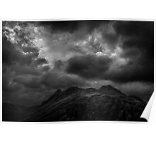 Rain clouds at the top of Langdale Poster