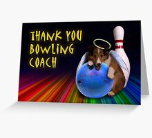 Thank You Bowling Coach Sheltie Puppy Greeting Card