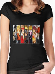 Manga Heroes Women's Fitted Scoop T-Shirt