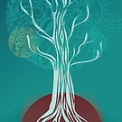 Teal Tree by Zsuzsa Goodyer