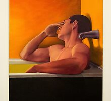 Male Unwinding In The Bath by Al Bourassa