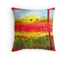 Colourfull landscape Throw Pillow