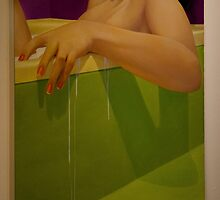 Woman Soaking In A Bathtub by Al Bourassa