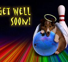 Get Well Soon Angel Sheltie Puppy by jkartlife