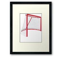 Hockey Net Framed Print