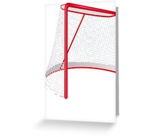 Hockey Net Greeting Card