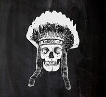 Skull Indian Headdress by WAMTEES
