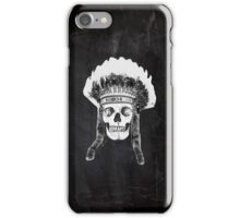 Skull Indian Headdress iPhone Case/Skin