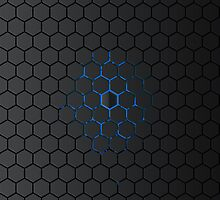 Glowing Hexigon by MrDave888