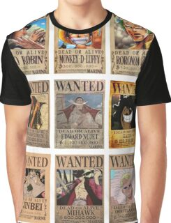 One Piece Post Wanted Graphic T-Shirt
