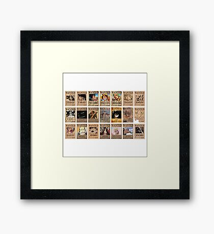 One Piece Post Wanted Framed Print