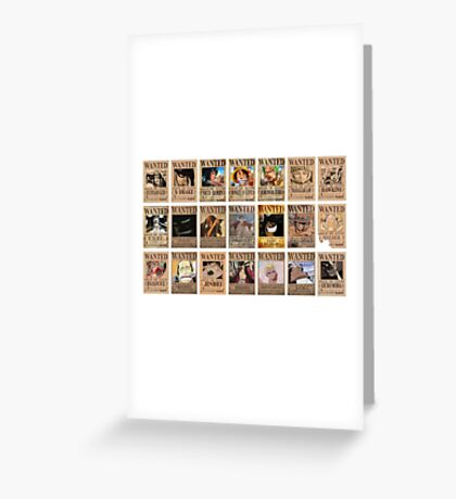 One Piece Post Wanted Greeting Card