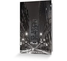 Chicago Board of Trade B W Greeting Card