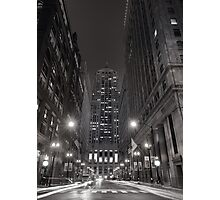 Chicago Board of Trade B W Photographic Print