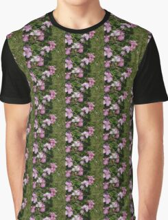 Pink Blossom And Bumble Bee Graphic T-Shirt