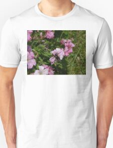 Pink Blossom And Bumble Bee Unisex T-Shirt