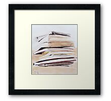 delicate imbalance Framed Print