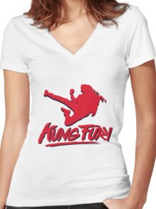 Kung Fury T-Shirt Women's Fitted V-Neck T-Shirt