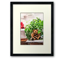Bumble Bear Flew Into the Fridge Today! Framed Print