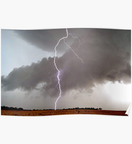 Daytime lightning Felton Valley, Queensland Australia Poster