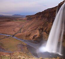 Seljalandsfoss Waterfall Iceland Autumn by Michael Sarton