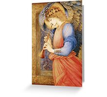 Burne-Jones - An Angel Playing a Flageolet Greeting Card