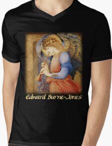 Burne-Jones - An Angel Playing a Flageolet Mens V-Neck T-Shirt