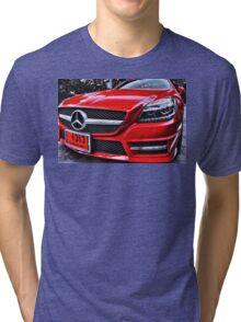 MERCEDES BENZ Front_red Tri-blend T-Shirt