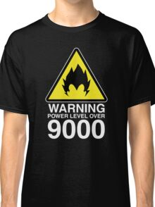WARNING: Power Level Over 9000 Classic T-Shirt