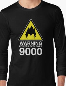 WARNING: Power Level Over 9000 Long Sleeve T-Shirt