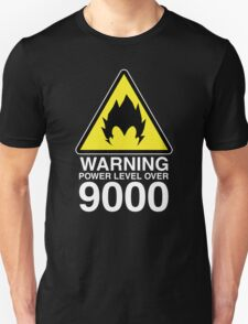 WARNING: Power Level Over 9000 Unisex T-Shirt