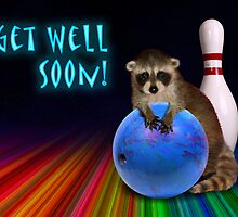Get Well Soon Raccoon by jkartlife