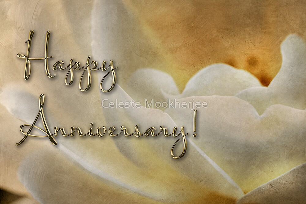 Candlelight rose - anniversary card by Celeste Mookherjee