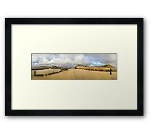 West Bay Harbour Bridport Framed Print