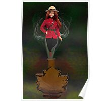 █ ♥ █ GENIE ~MAPLE LEAF ~ROYAL CANADIAN MOUNTED POLICE PICTURE/CARD █ ♥ █  Poster