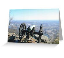 Civil War Cannon On The Overlook Greeting Card
