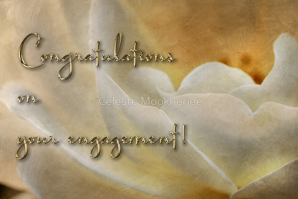 Candlelight rose - engagement card by Celeste Mookherjee