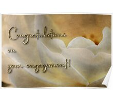Candlelight rose - engagement card Poster