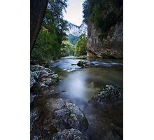 River near Frasassi, Genga, Italy Photographic Print