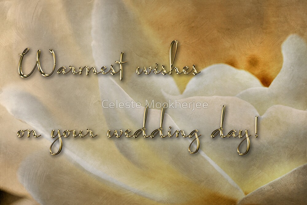 Candlelight rose - wedding card by Celeste Mookherjee