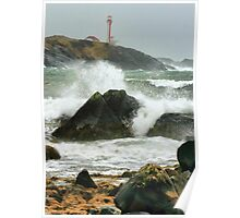 Stormy November Day at Cape Forchu Poster