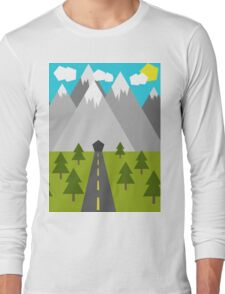 Nature Low-Poly Long Sleeve T-Shirt
