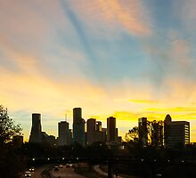 Sunrise over downtown Houston by Randall Murrow