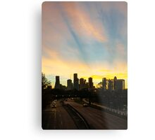 Sunrise over downtown Houston Metal Print