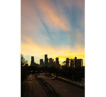 Sunrise over downtown Houston Photographic Print