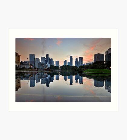 Reflecting City Park Art Print
