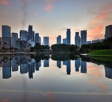 Reflecting City Park by Nur Ismail Mohammed