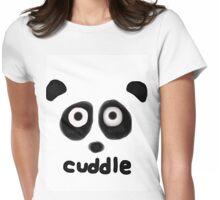 Cuddly Panda Womens Fitted T-Shirt
